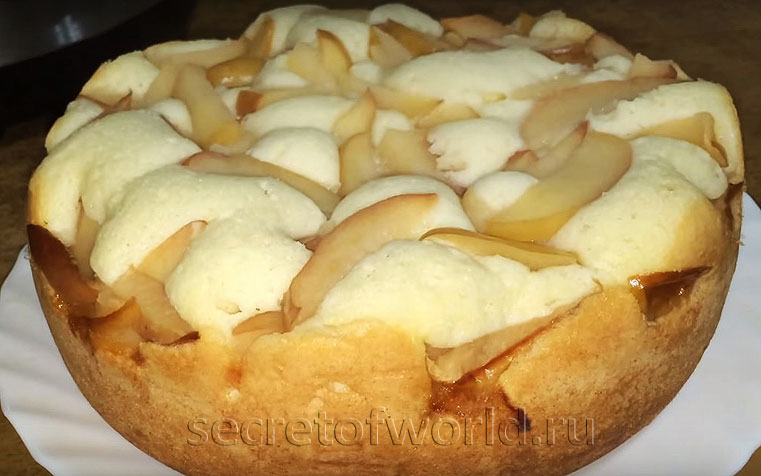 Пирог в мультиварке с яблоками рецепт с фото