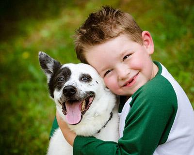 мальчик индиго с собакой