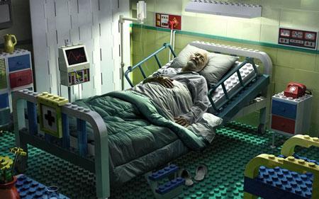 в кровате