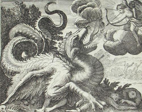 Аполлон и змей Пифон
