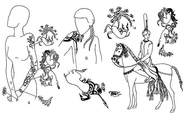 Татуировки на теле принцессы Укок