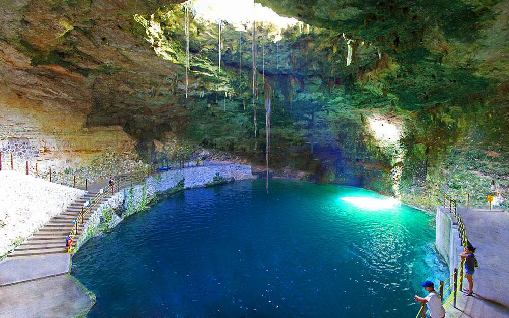 карстовые пещеры в канкуне