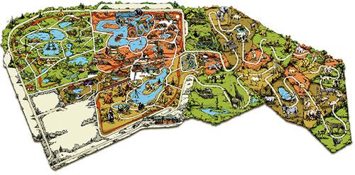 карта Национального парка Серенгети