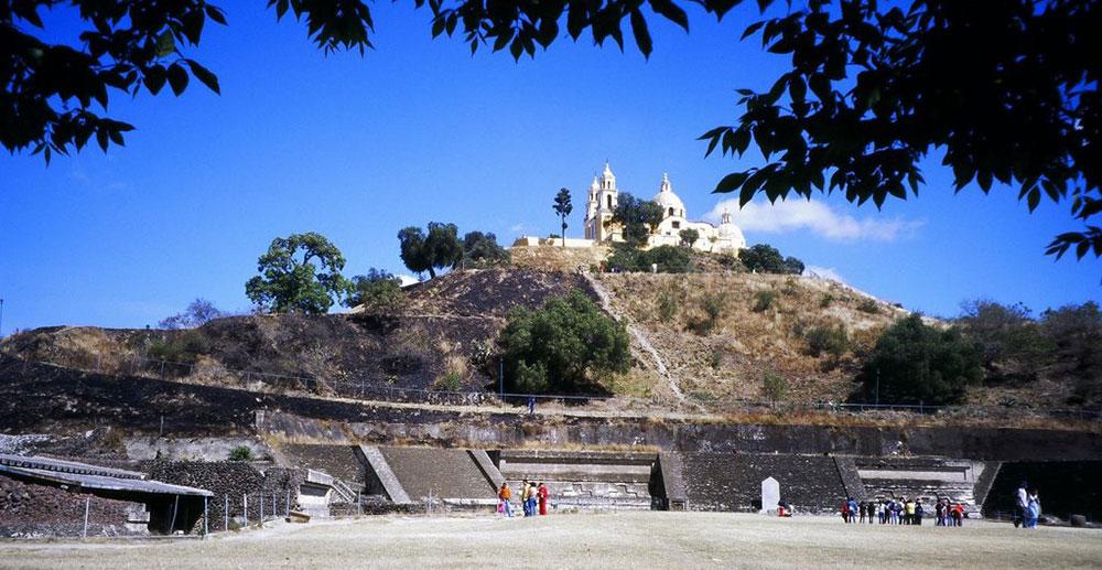 Пирамида в городе Чолула