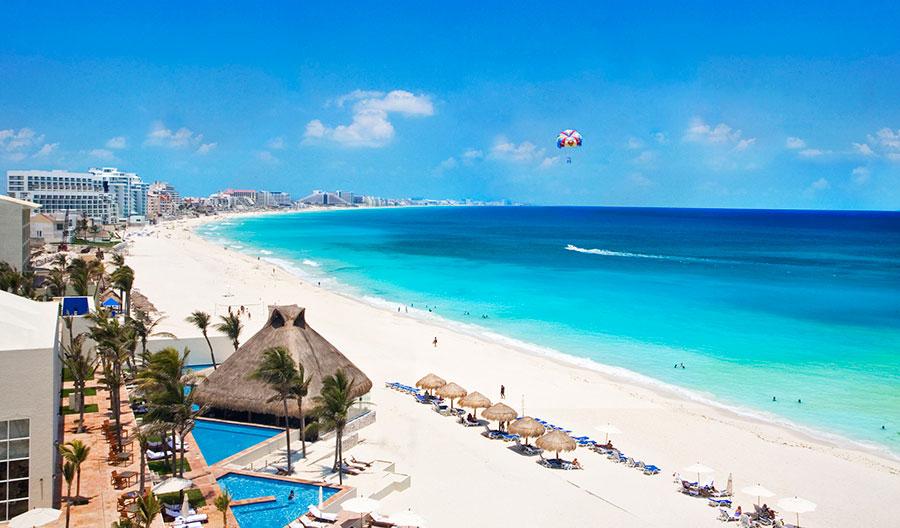 Пляж города Канкун