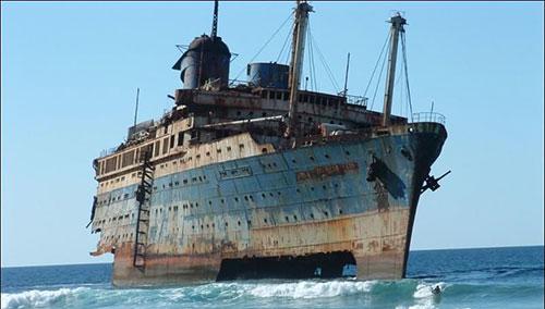 покинутый корабль в бермудах