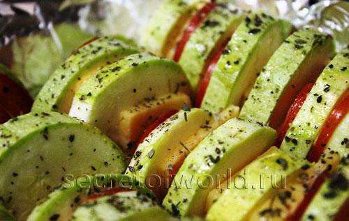 Уложенные овощи