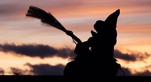 ведьма с веником