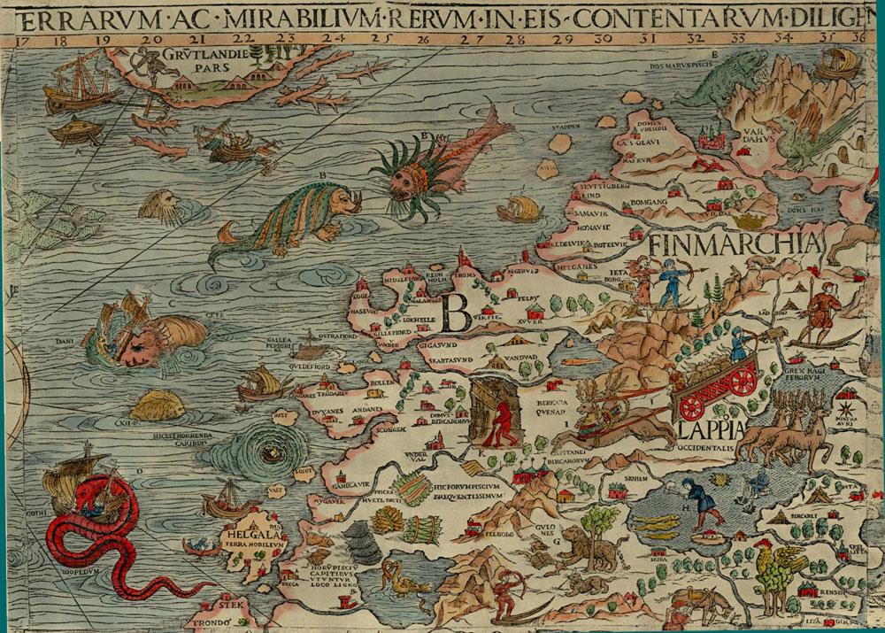 карта Олафа Магнуса