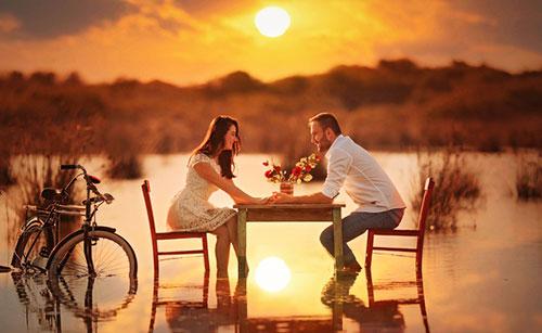 Влюбленные общаются