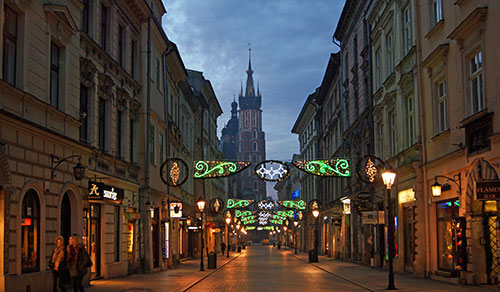 Флорианская улица, город Краков