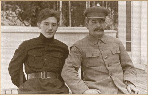 Сталин с сыном Василием