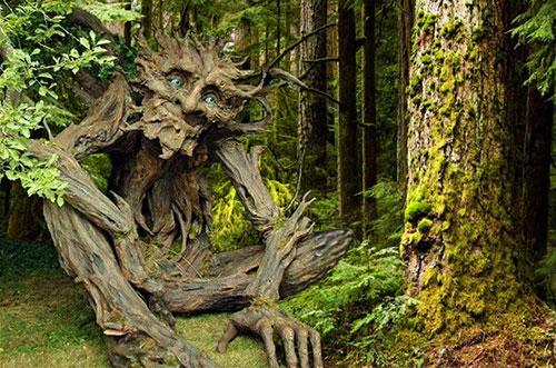 Леший в виде дерева