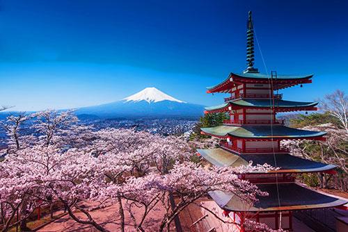 Храм на пути к горе Фудзи