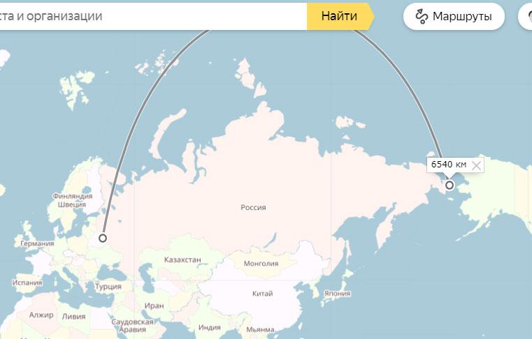 размер России