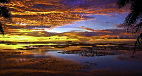 Закат на островах