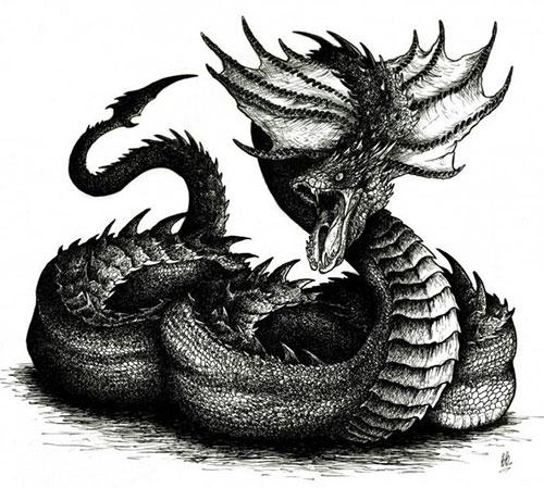 василиск в образе дьявола