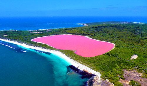 Хиллер – розовое озеро