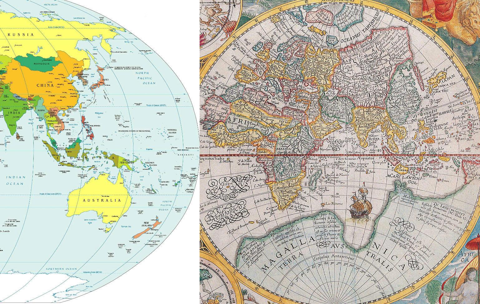 Сравнение карт Австралии