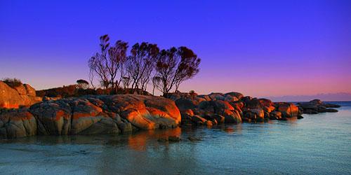 Залив огней в Австралии