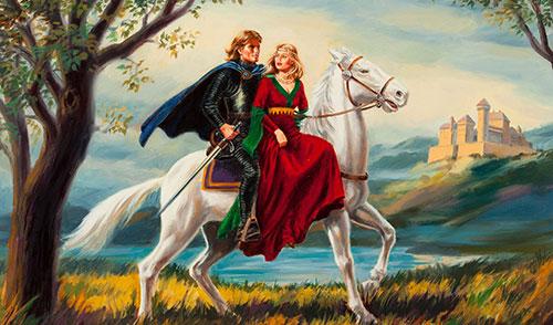 Рыцарь с девушкой