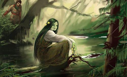 Существо Кикимора болотная