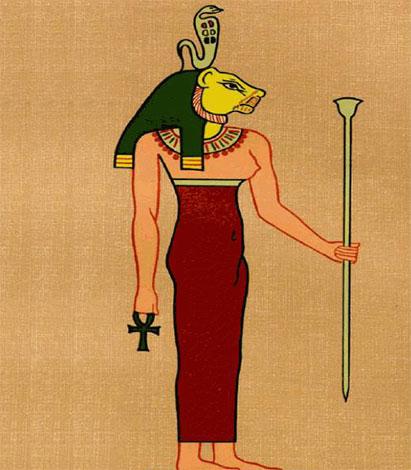 Богиня с головой кошки