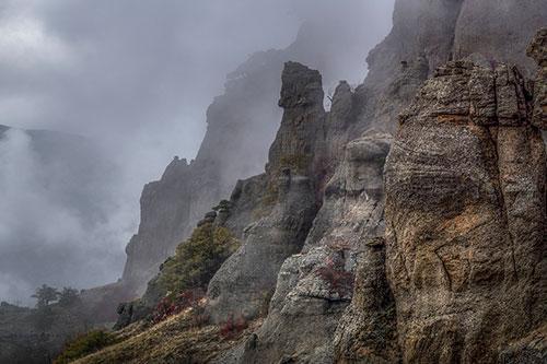 Дымящаяся гора в крыму