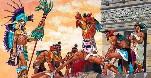 Индейцы приносят в жертву