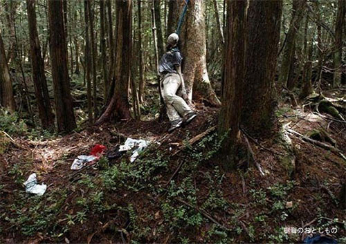 Скелет в лесу